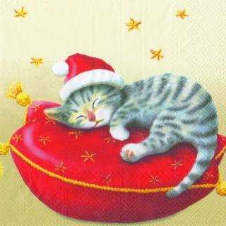 IHR   Servietten Santa Cat