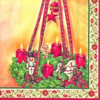 IHR   Servietten Advent Wreath