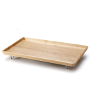 Continenta | Bett-Tablett, Gummibaumholz natur