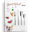 Gnali+Zani | Kinderbesteck   Good Food 4tlg neutral