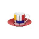 Könitz |  Espressotassen-Set  Hommage à Mondrian
