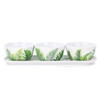 Michel Design Works | Dipschalen Set  Flamingo Palm