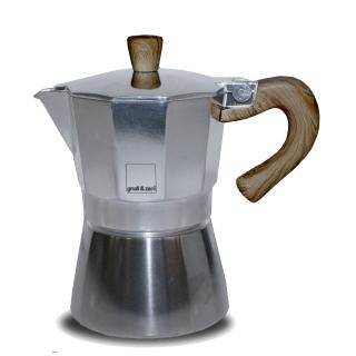 Gnali+Zani | VENEZIA Espressokocher Alu 6-tassig, induzierbar