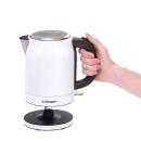Cloer | Edelstahl-Wasserkocher weiss, 1 Liter
