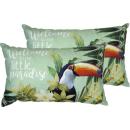 IHR | Kissen mit Inlett, Toucan in Paradise, mint