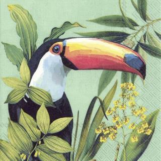 IHR | Lunch Servietten, Toucan in Paradise mint