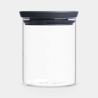 Brabantia | Glasbehälter stapelbar, 0,6l, Dark Grey