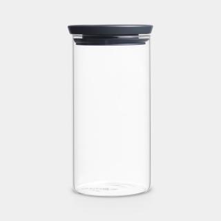 Brabantia   Glasbehälter stapelbar, Dark Grey, 1,1l