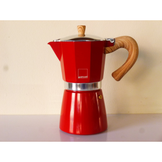 Gnali+Zani | VENEZIA Espressokocher Alu9 tassig, red