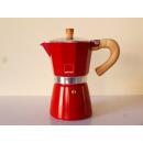 Gnali+Zani | VENEZIA Espressokocher 6tassig, red