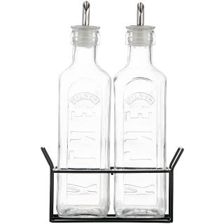 Kilner | Öl-und Essigflaschen-Set 0,6l im Metallkorb