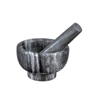 Küchenprofi | Mörser mit Stößel Marmor grau