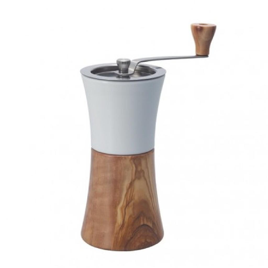 HARIO Kaffeemühle Olivenholz Keramik